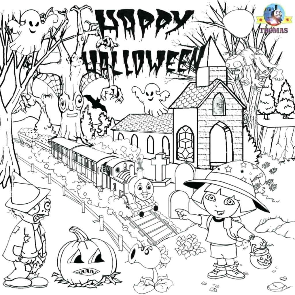 Coloring ~ Coloring Halloween Pages Printableree Akali