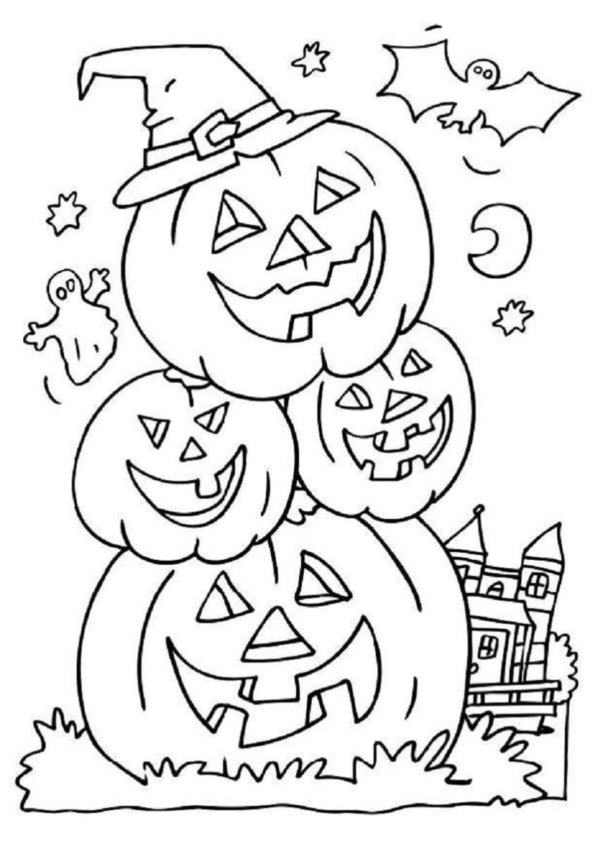 Coloring : Fall Coloring Pages Pdf Fresh Halloween Coloring