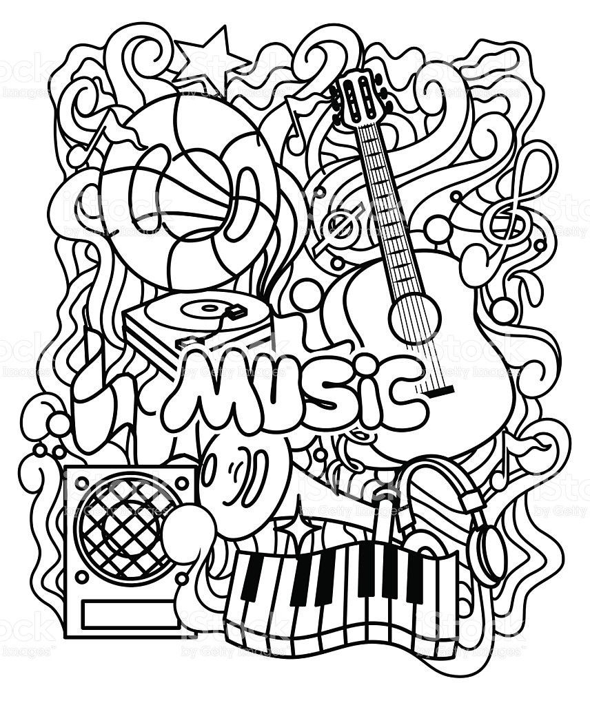 Coloring : Music Worksheets Printable Pages Pdf Free