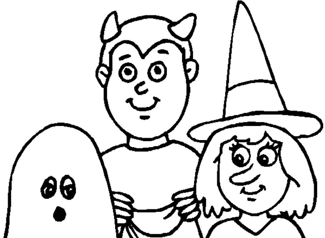 Coloring Pages Easy Halloween Tremendous To Print Picture