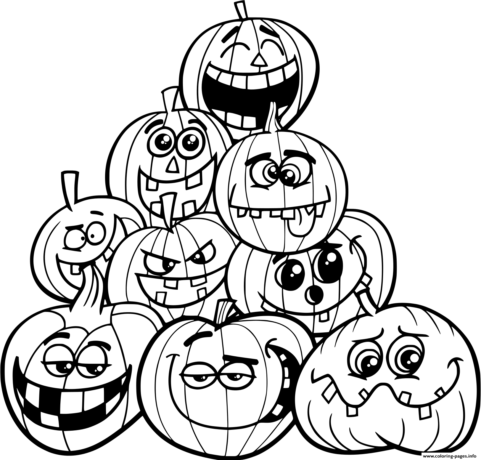 Coloring Pages : Pumpkin Coloringagesrintable Halloween Free