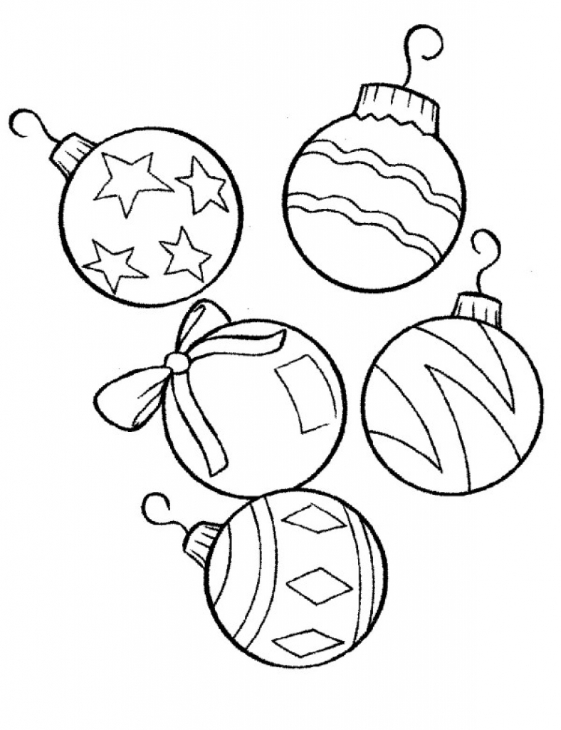 Coloring Pages Worksheets Christmas Decorationsament