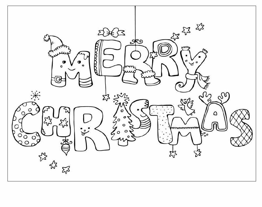 Coloring Pages Worksheets Fabulous Printabletmas Cards Black