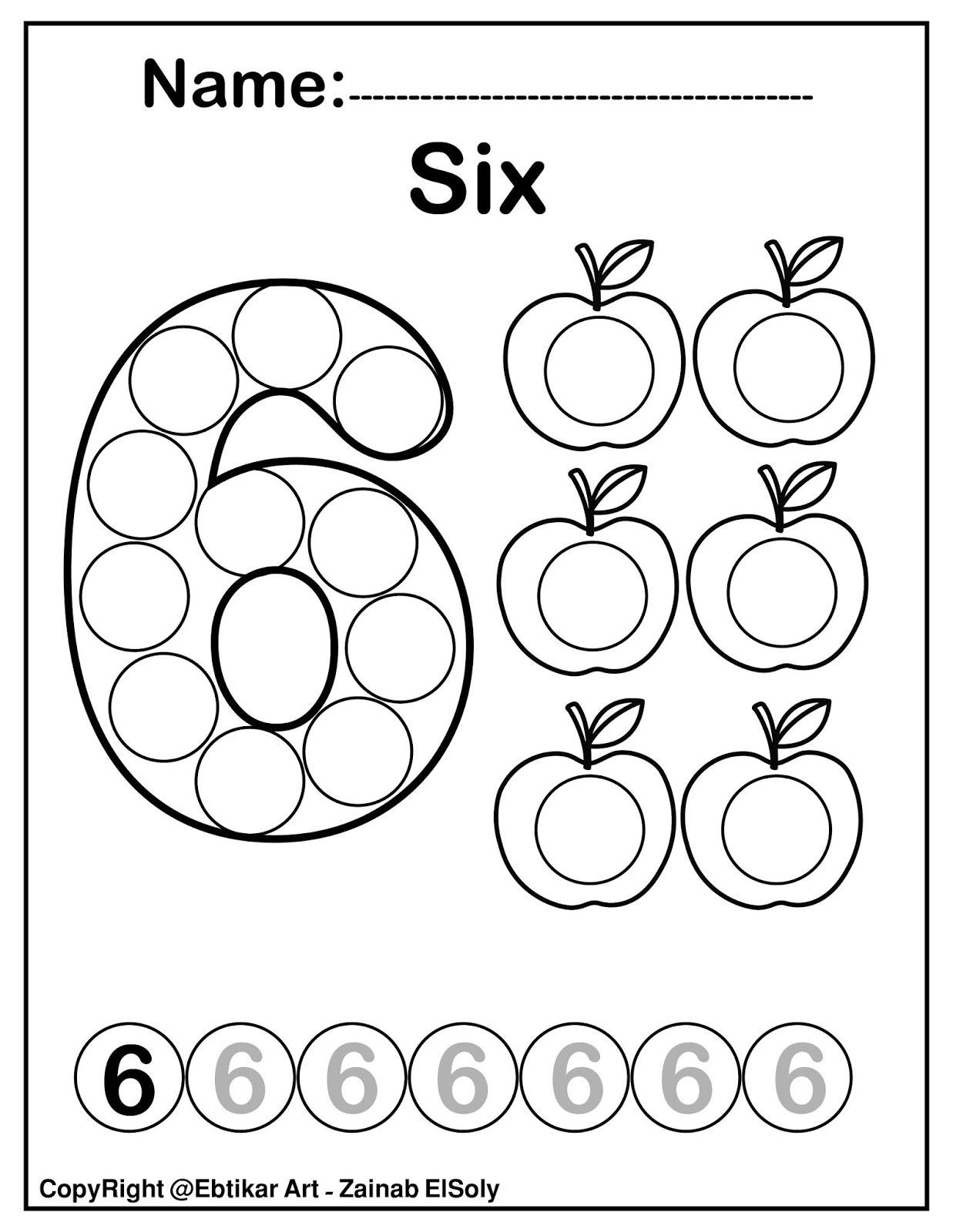Coloring Pages Worksheets Free Printable Kindergarten Math
