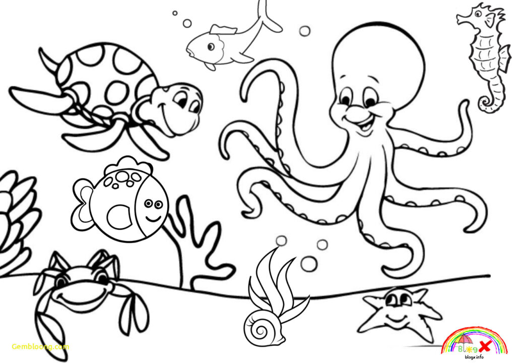 Coloring Pages Worksheets Sea Animals Ocean Pagesheet