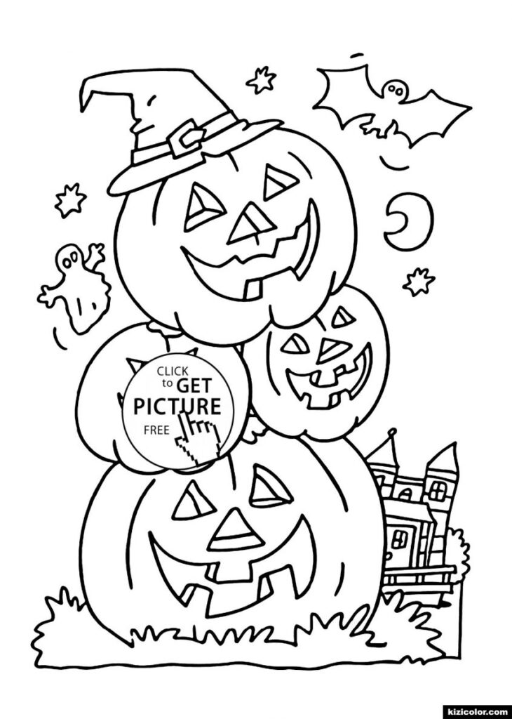Coloring Sheet Halloween Pages Pdf Free Printable