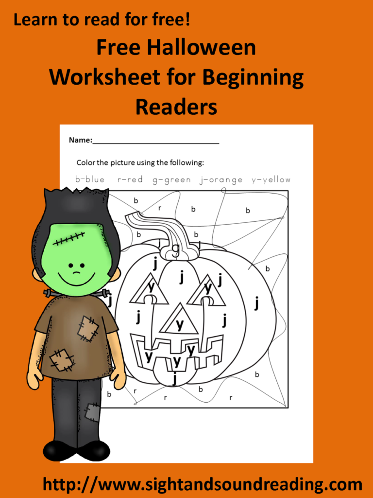Colorletter Halloween Worksheet   Halloween Worksheets
