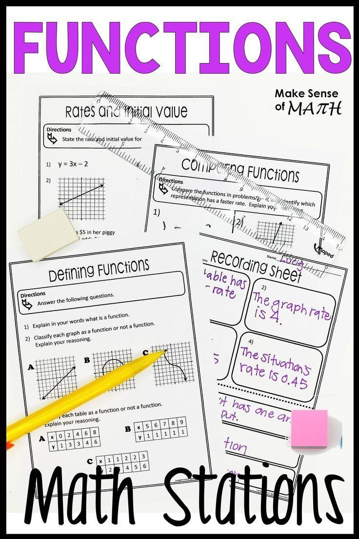 Comparing Functions Worksheet 8Th Grade Functions Stations