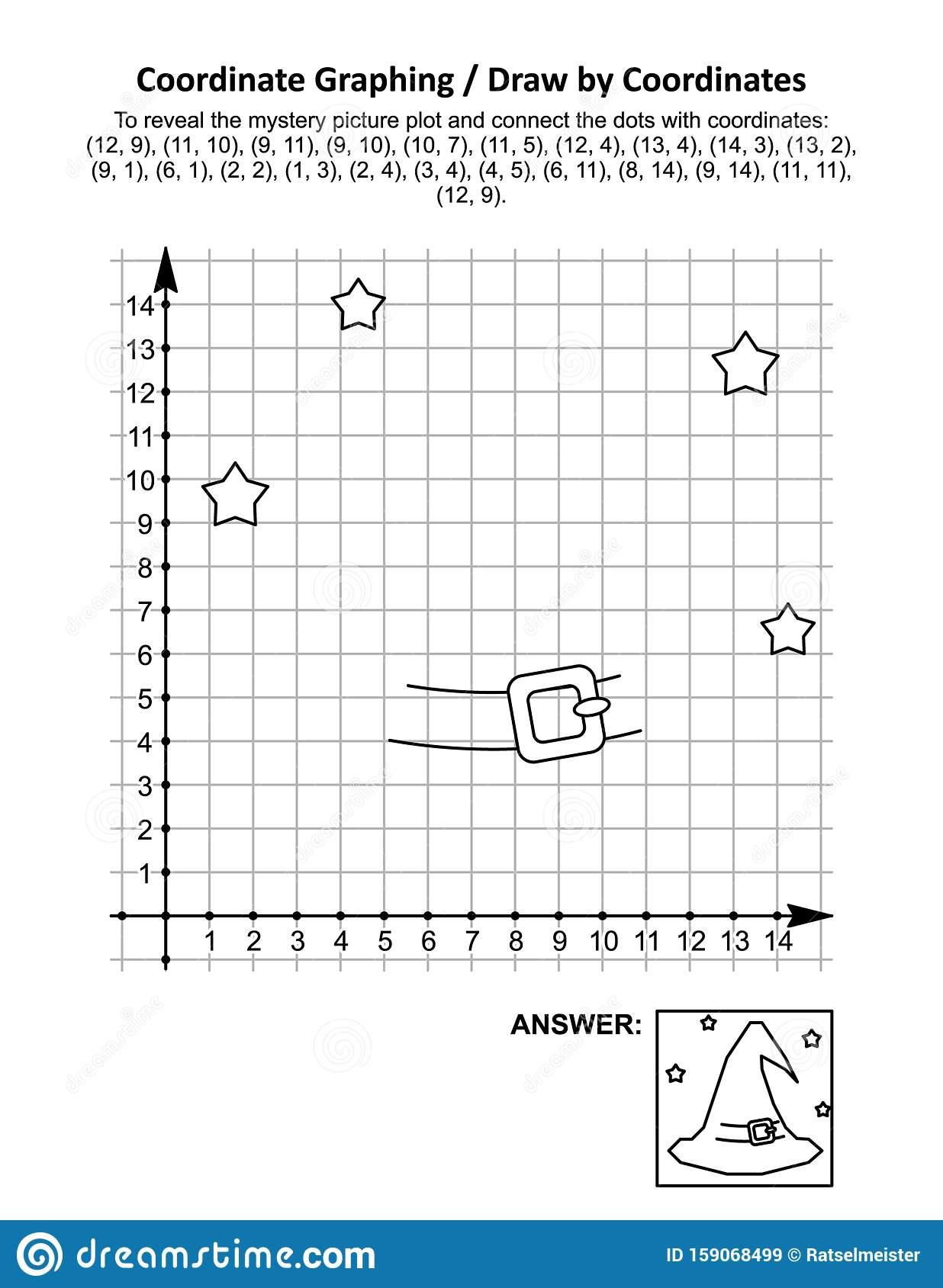 Coordinate Graphing, Or Drawcoordinates, Math Worksheet
