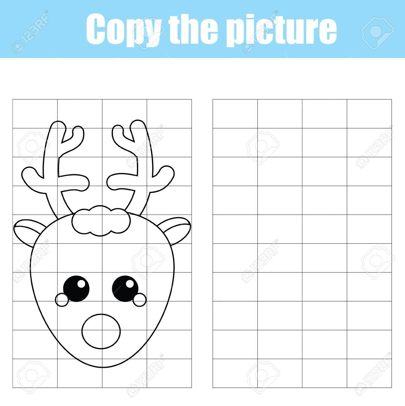 Copy The Picture Using A Grid Children Educational Drawing Game