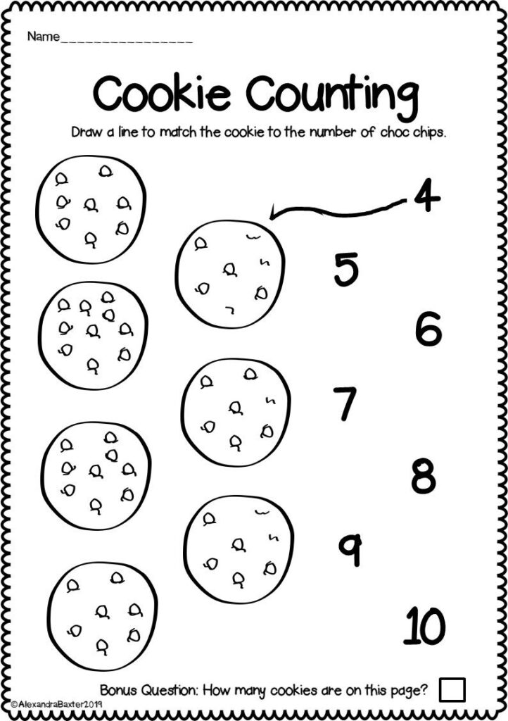 Counting To Worksheets For Kindergarten Distance Learning