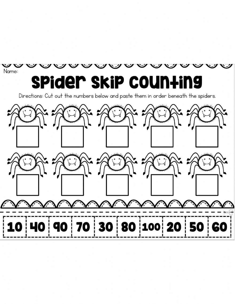 Counting10's Halloween Sheet Worksheet