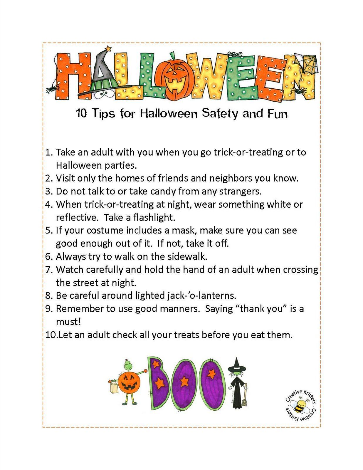 Creative Kritters   Halloween Safety, Halloween Safety Tips