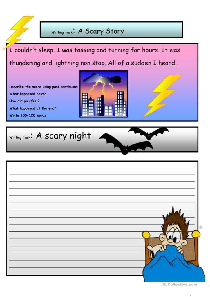 Creative Writing: A Scary Story #3 A2 Level   English Esl