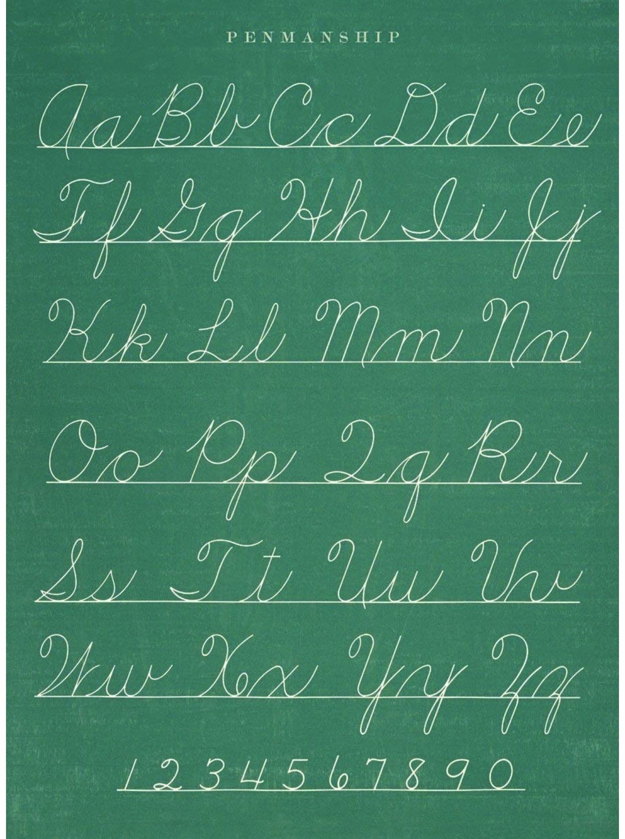 Cursive Alphabet In 2020   Teaching Cursive Writing, Cursive