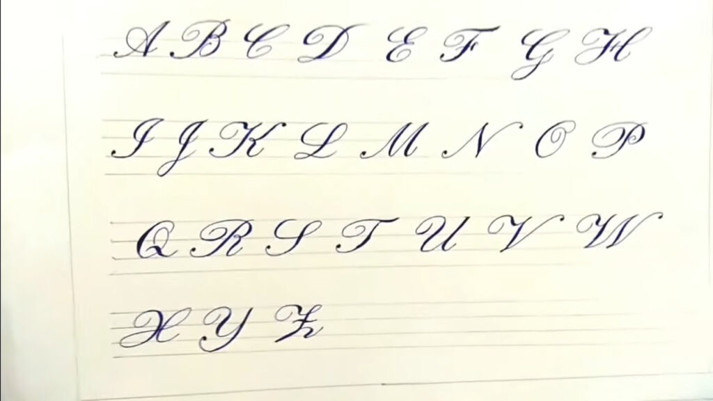 Cursive (Calligraphy) Writing A To Z Capital Letters For Beginners.