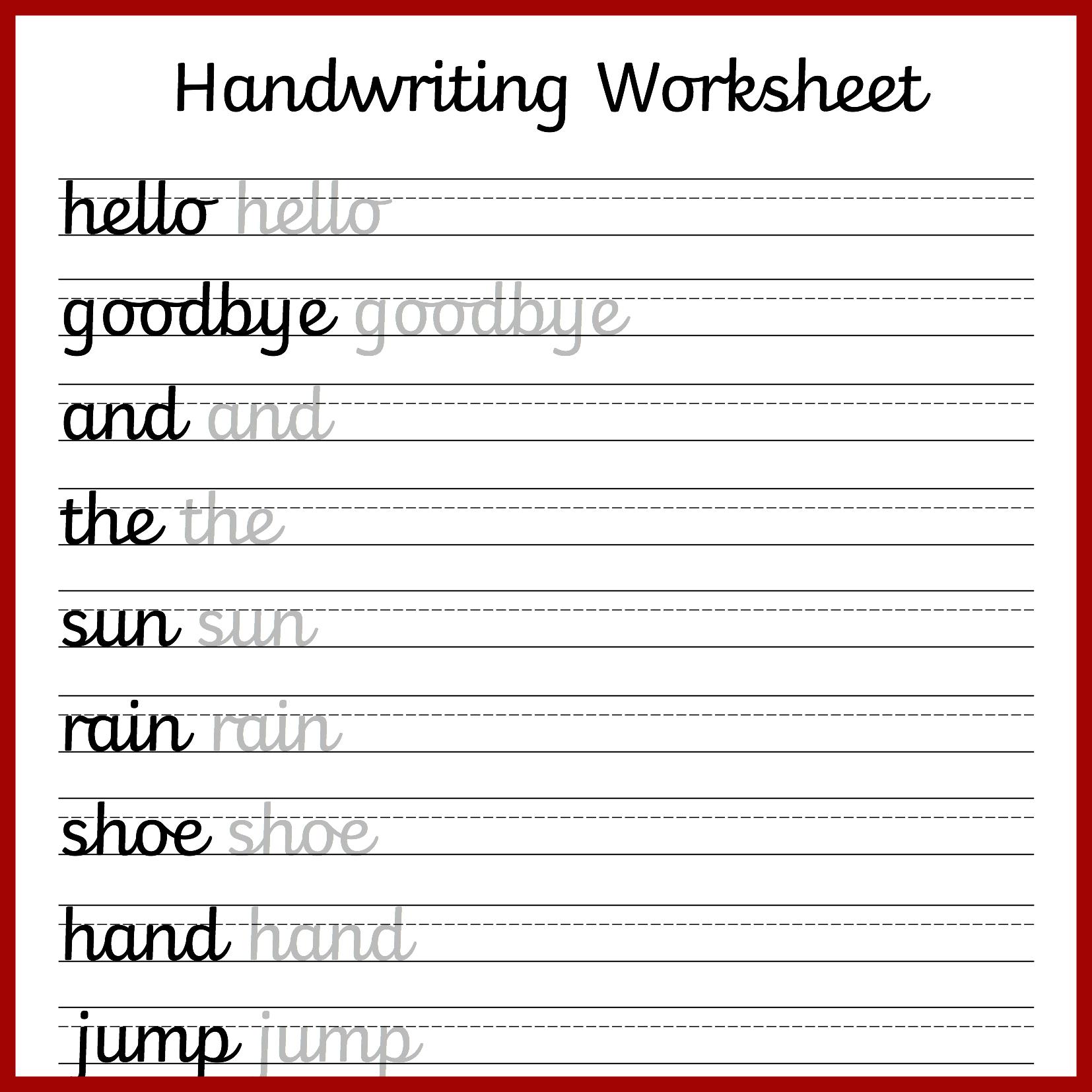 Cursive Handwriting Worksheets – Free Printable!   Cursive