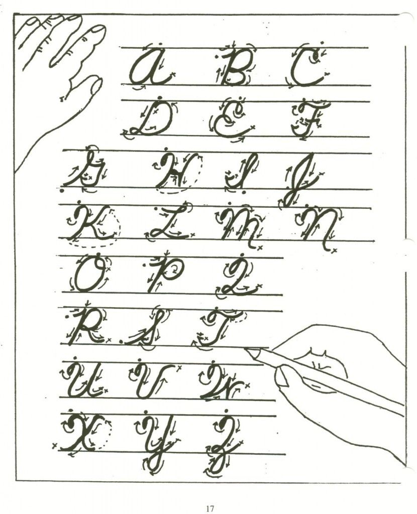 Cursive Letters A-Z's Handwriting   Learning Cursive
