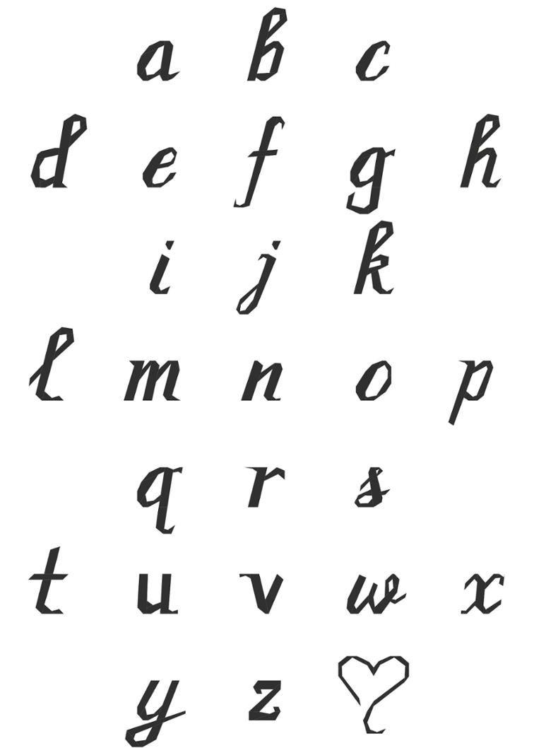 Cursive Script Lowercase Alphabet Paper Pieced   Craftsy