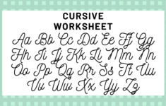 Cursive English Alphabet A To Z