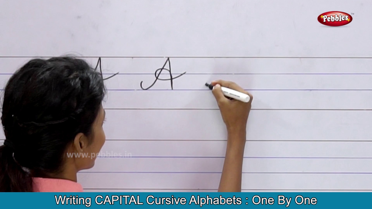 Cursive Writing For Children | Writing Capital Cursive Letters | Cursive  Handwriting Practice