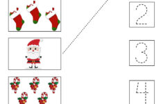 Christmas Number Recognition Worksheets