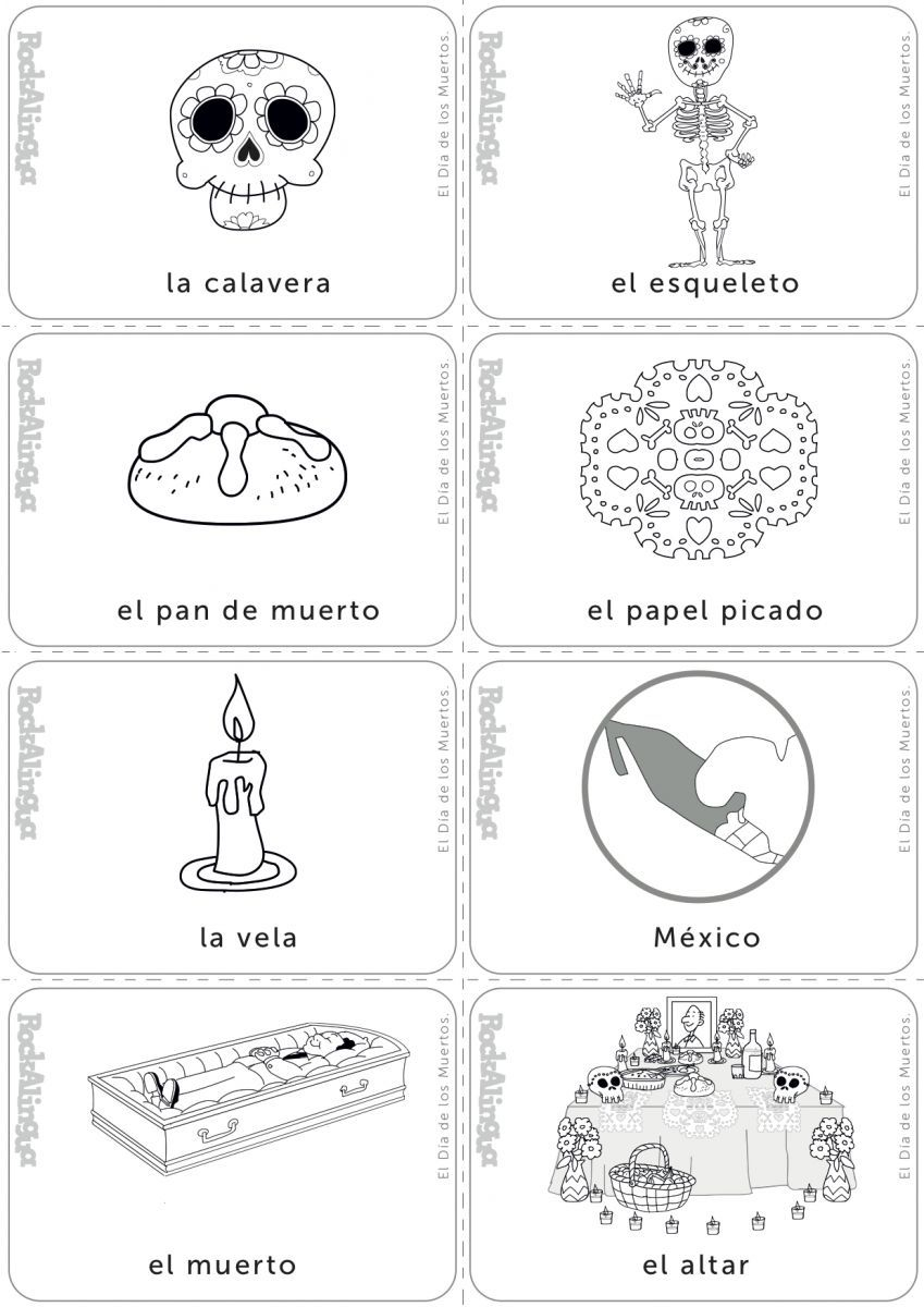 Day Of The Dead | Day Of The Dead, Halloween Worksheets