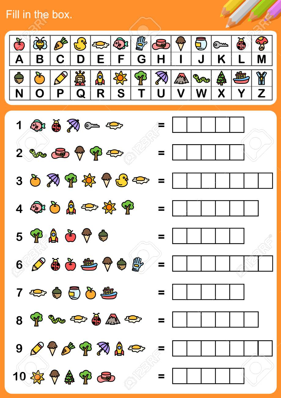 Decode Alphabet, Fill In The Box. - Worksheet For Education. regarding Alphabet Code Worksheets Free