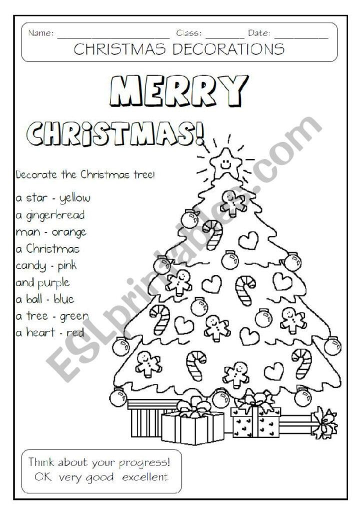 Decorate The Christmas Tree   Esl Worksheetmakigi