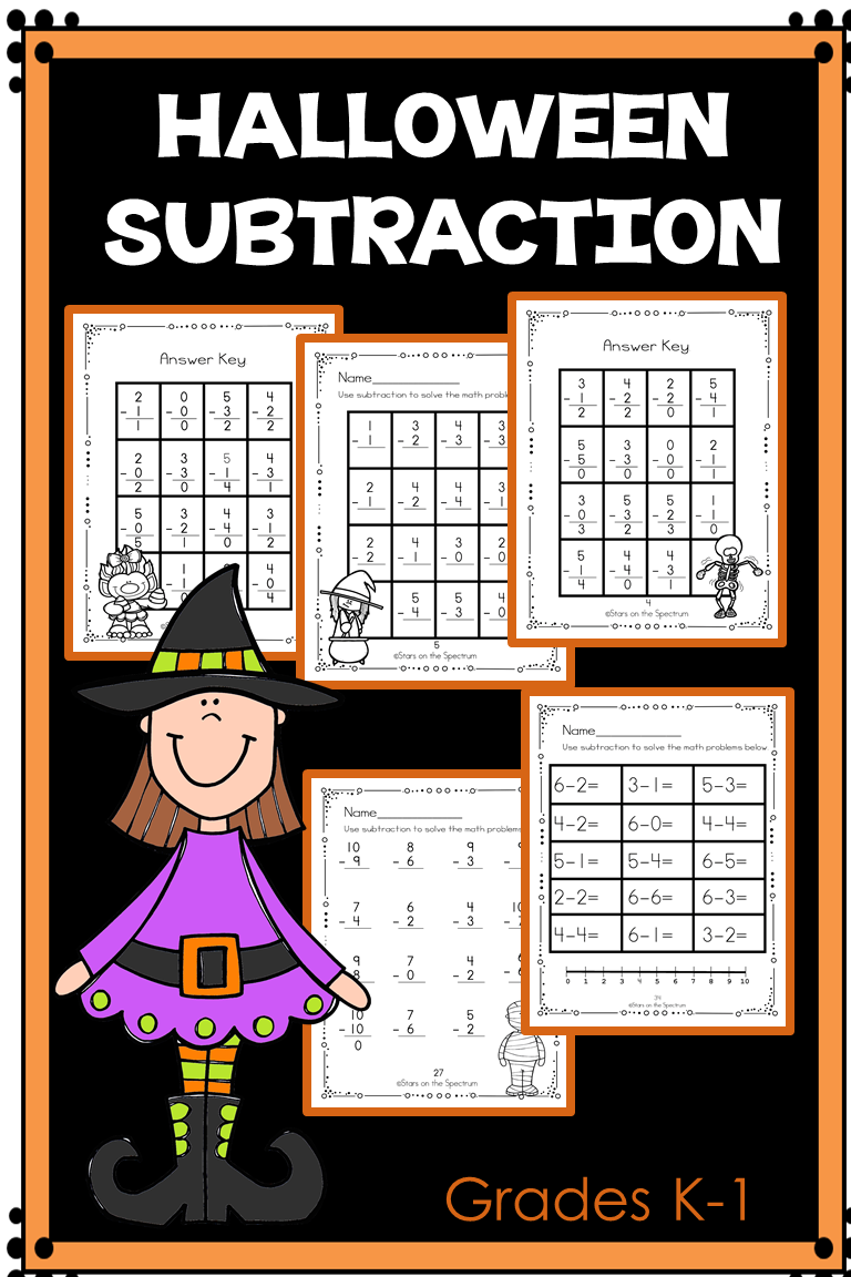 Differentiated Print And Go Worksheets For Halloween