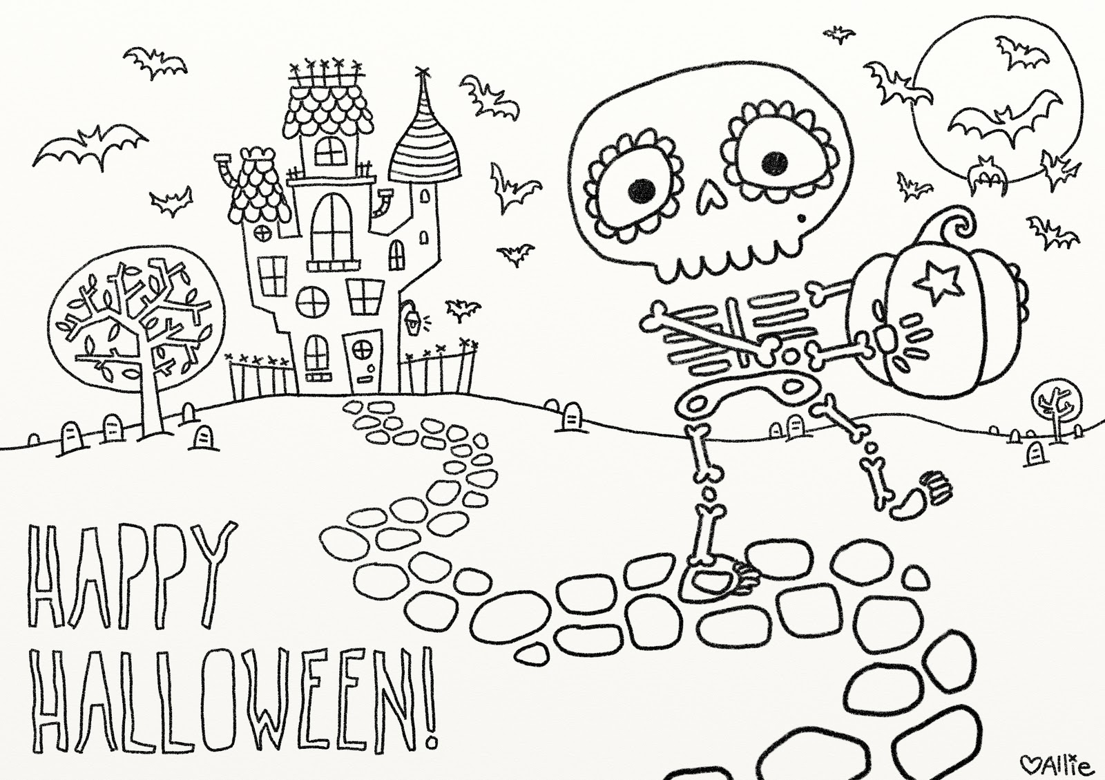 Disney Halloween Coloring Pages For Toddlerse To Print Happy