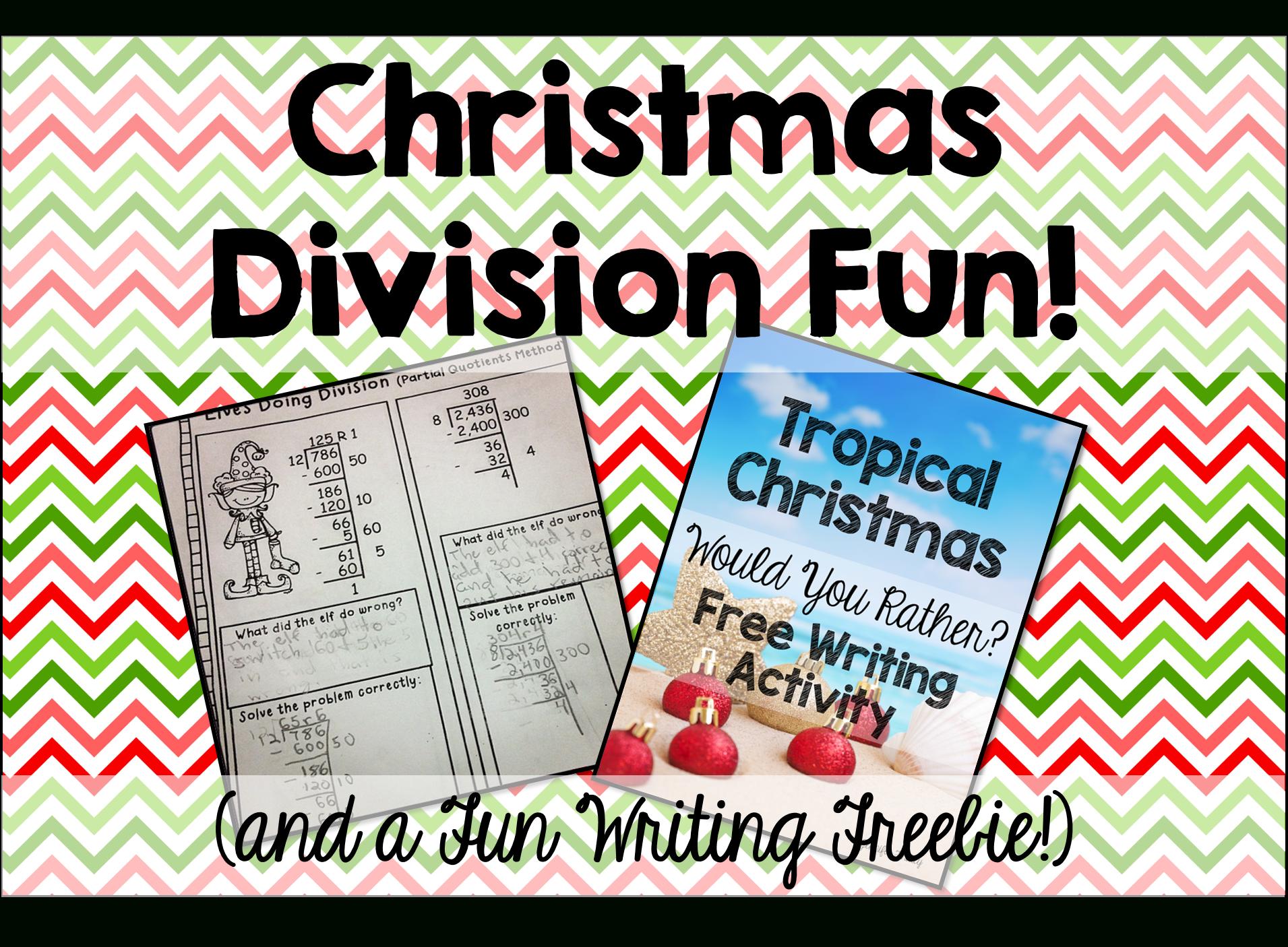 Division Fun And A Tropical Christmas Freebie - Teaching