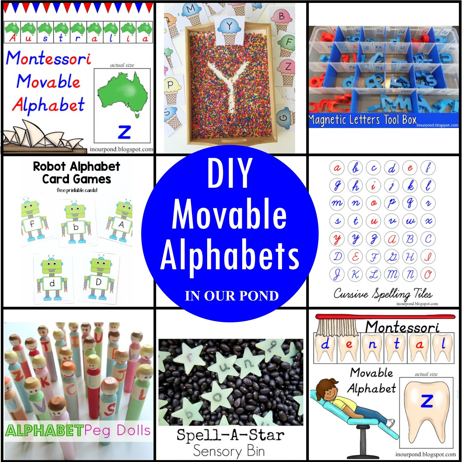 Diy Movable Alphabet Ideas And Free Printables