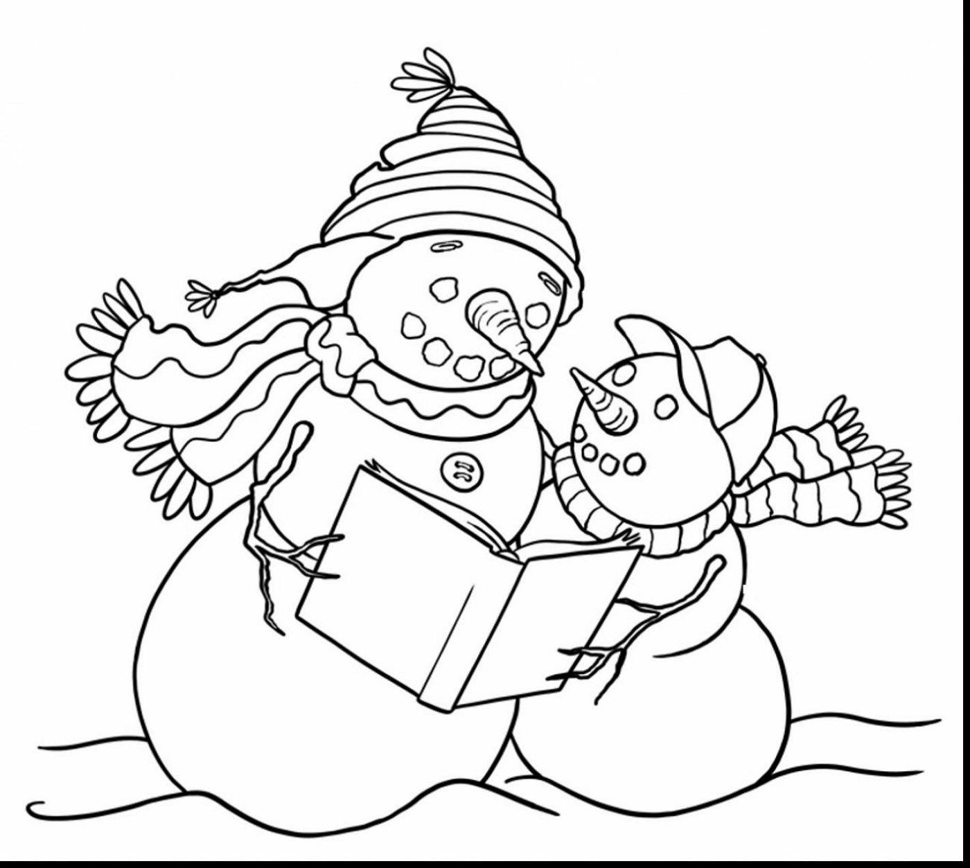 Dltk Crafts Snowman Coloring Printable | K5 Worksheets