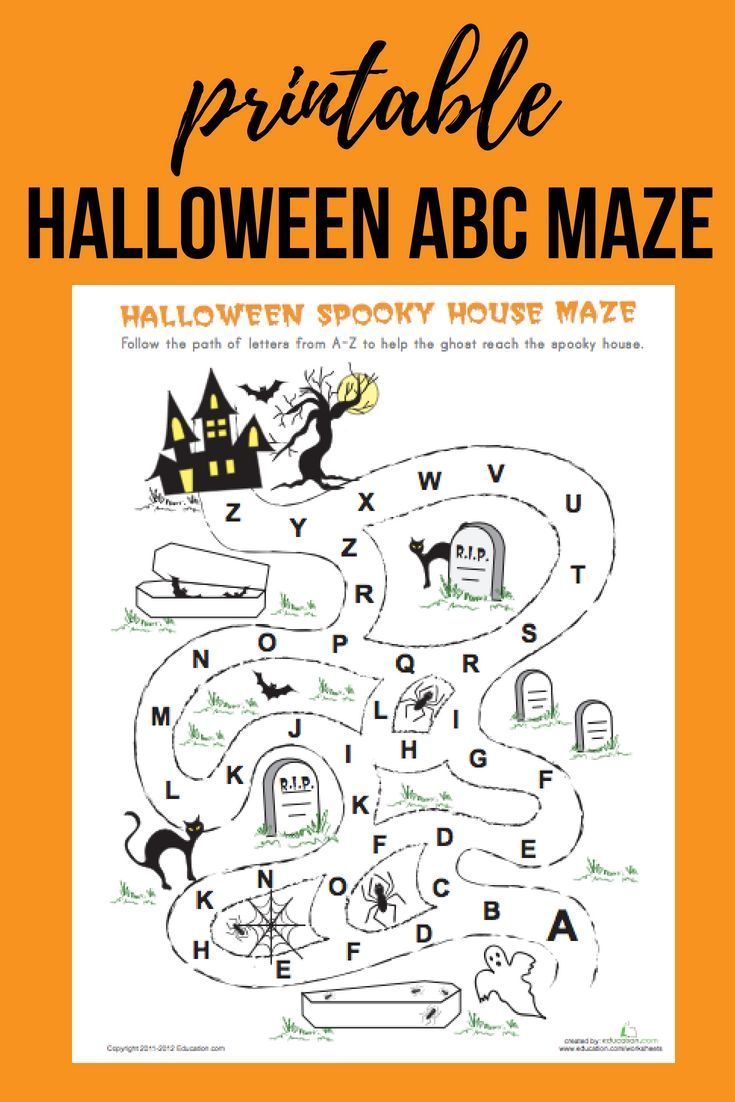 Download This Free Halloween Abc Maze For Your