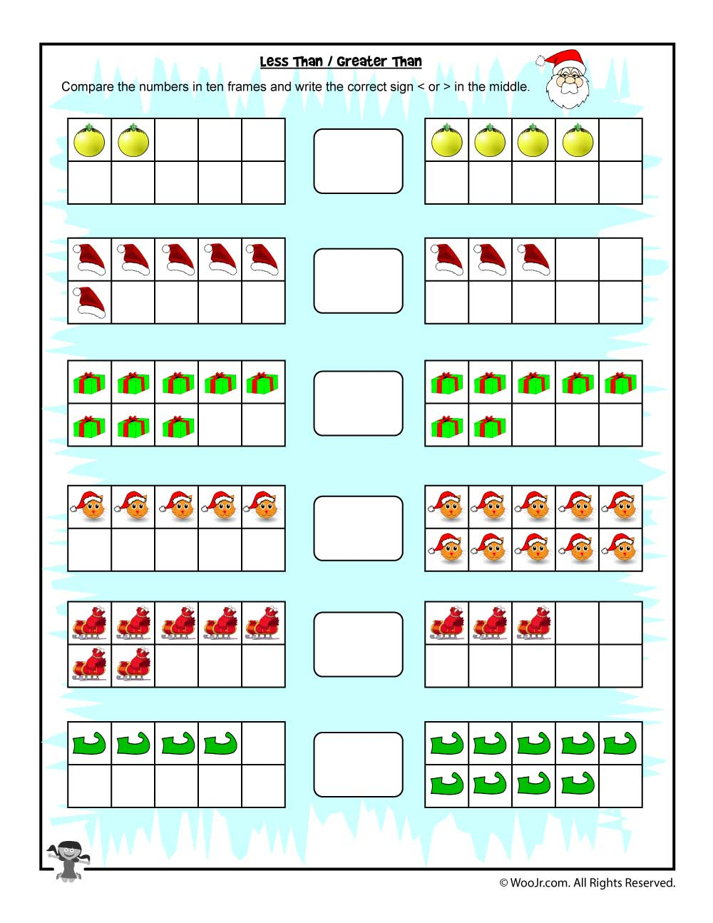 Easy Counting Greater Than/less Than Worksheet | Woo! Jr
