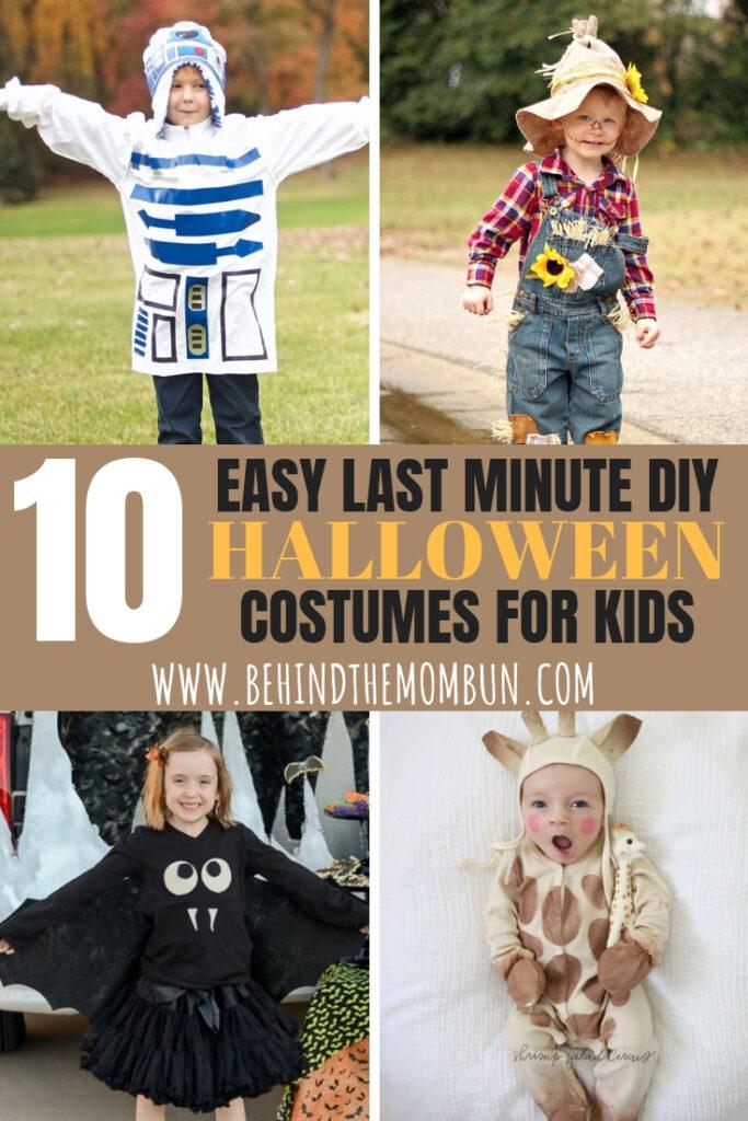 Easy Diy Halloween Costume Ideas For Kids   Behind The Mom Bun