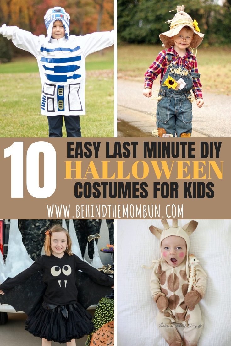 Easy Diy Halloween Costume Ideas For Kids - Behind The Mom Bun
