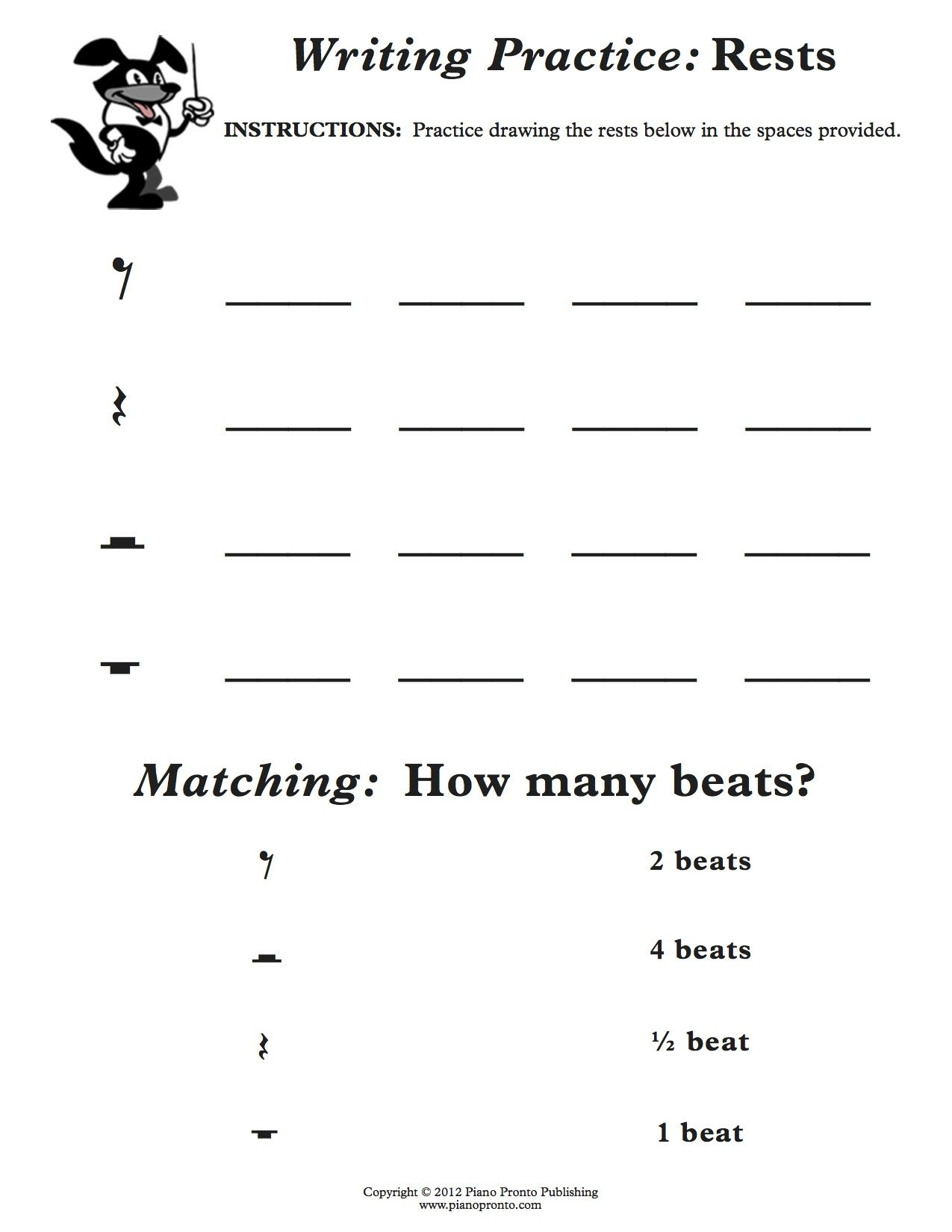 Easy Fun Music Theory | Music Theory Worksheets, Music