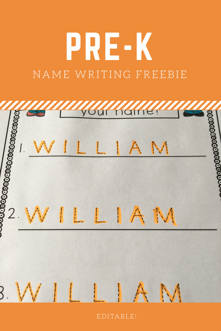 Editable Name Tracing Practice Freebie   Name Writing pertaining to Name Tracing Freebie