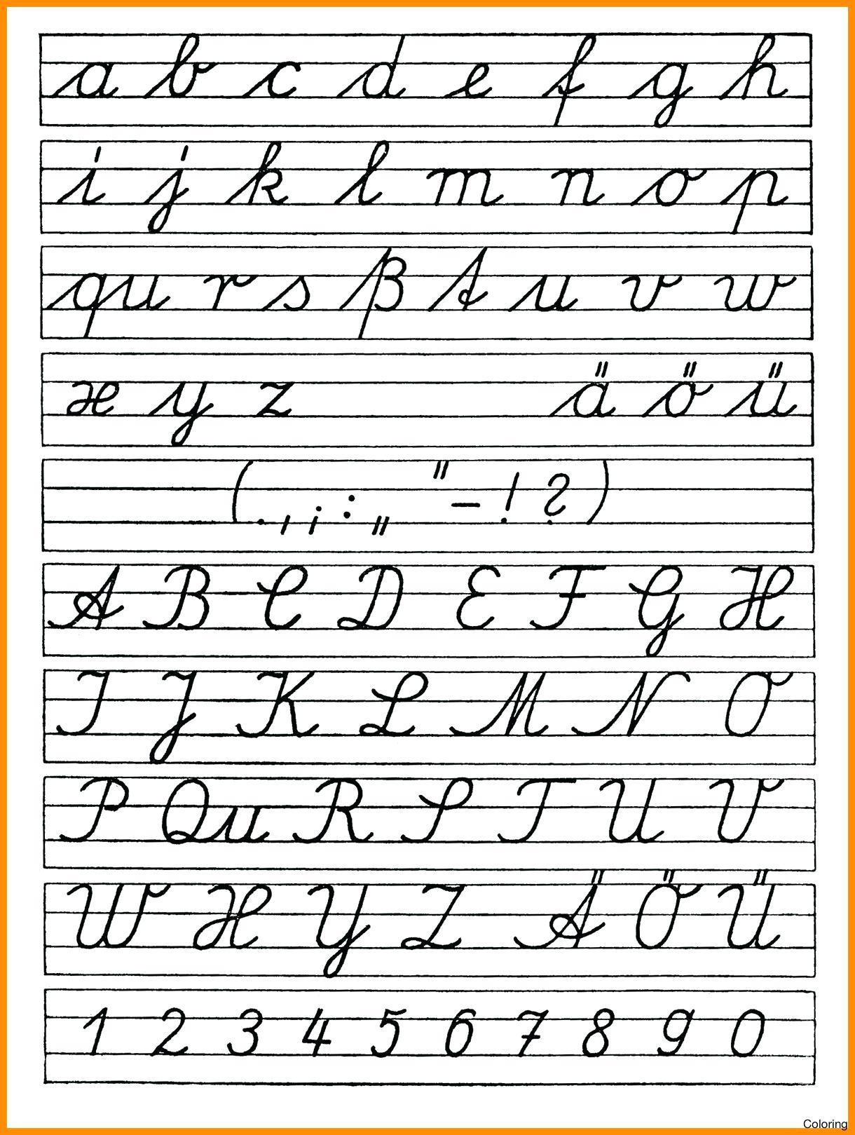 English Alphabet Cursive Writingctice Coloring Book