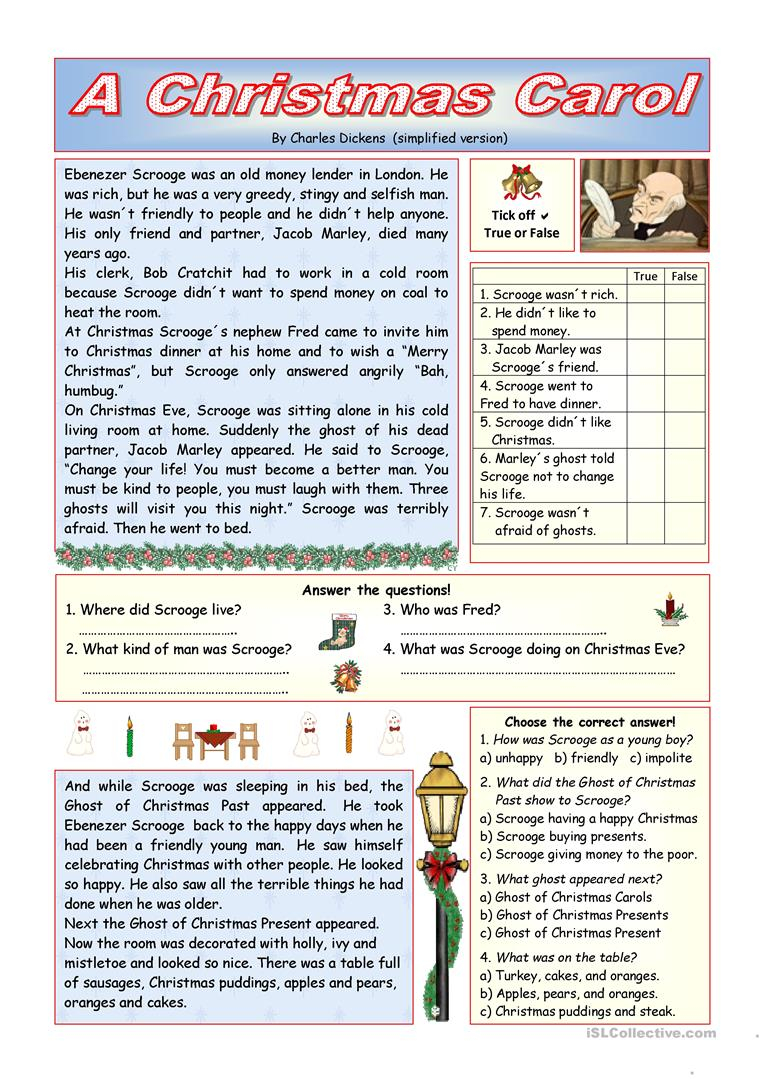 English Esl Christmas Worksheets - Most Downloaded (1001