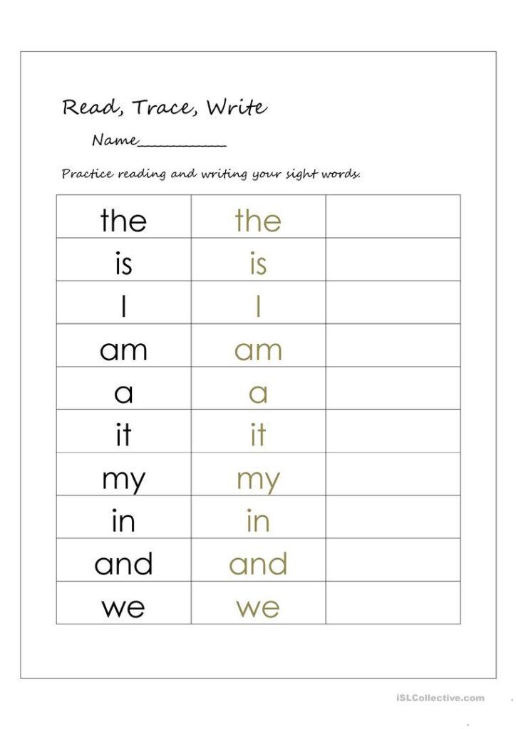 English Esl Sight Words Worksheets   Most Downloaded (26