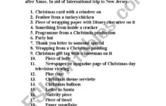 English Worksheets: Christmas Scavenger Hunt