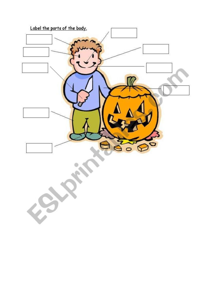 English Worksheets: Halloween Body Parts