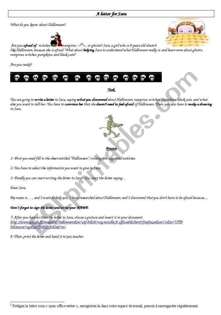 English Worksheets: Halloween Webquest