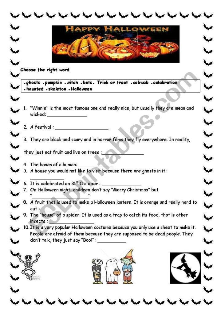 English Worksheets: Happy Halloween