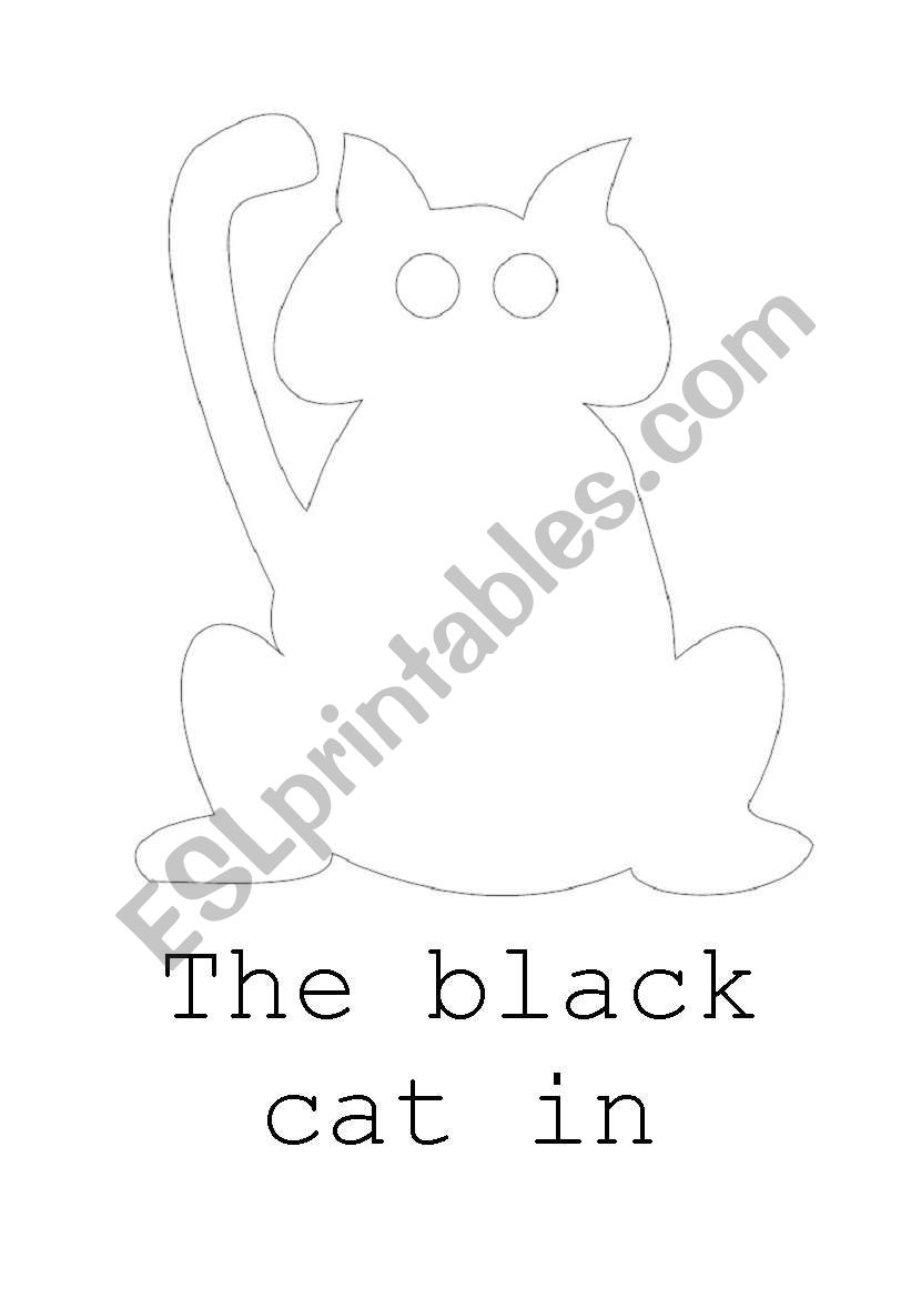 English Worksheets: The Black Cat In Halloween