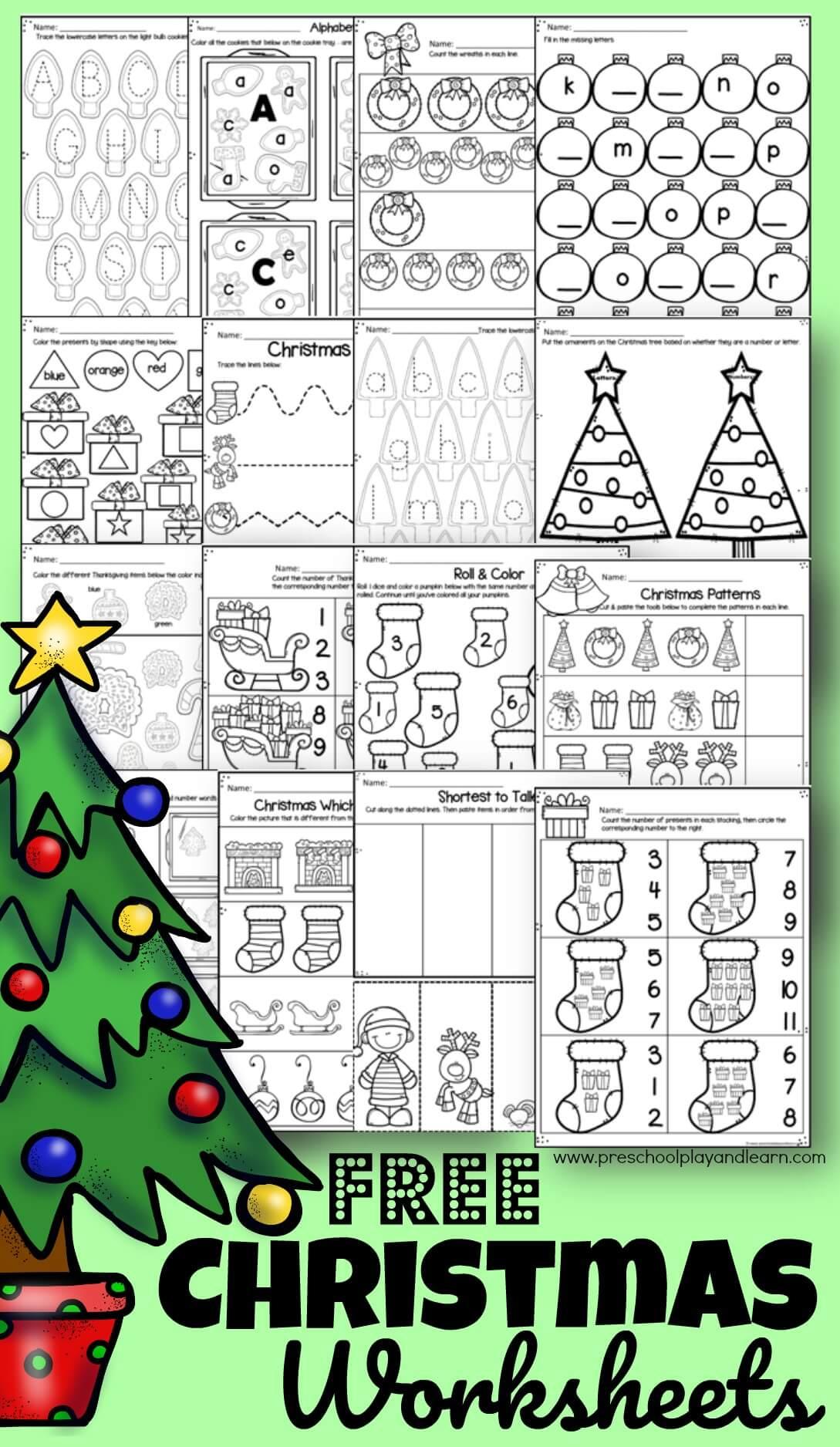 ? Free Christmas Worksheets For Preschool