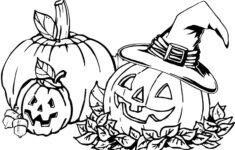 Halloween Pumpkin Coloring Worksheet